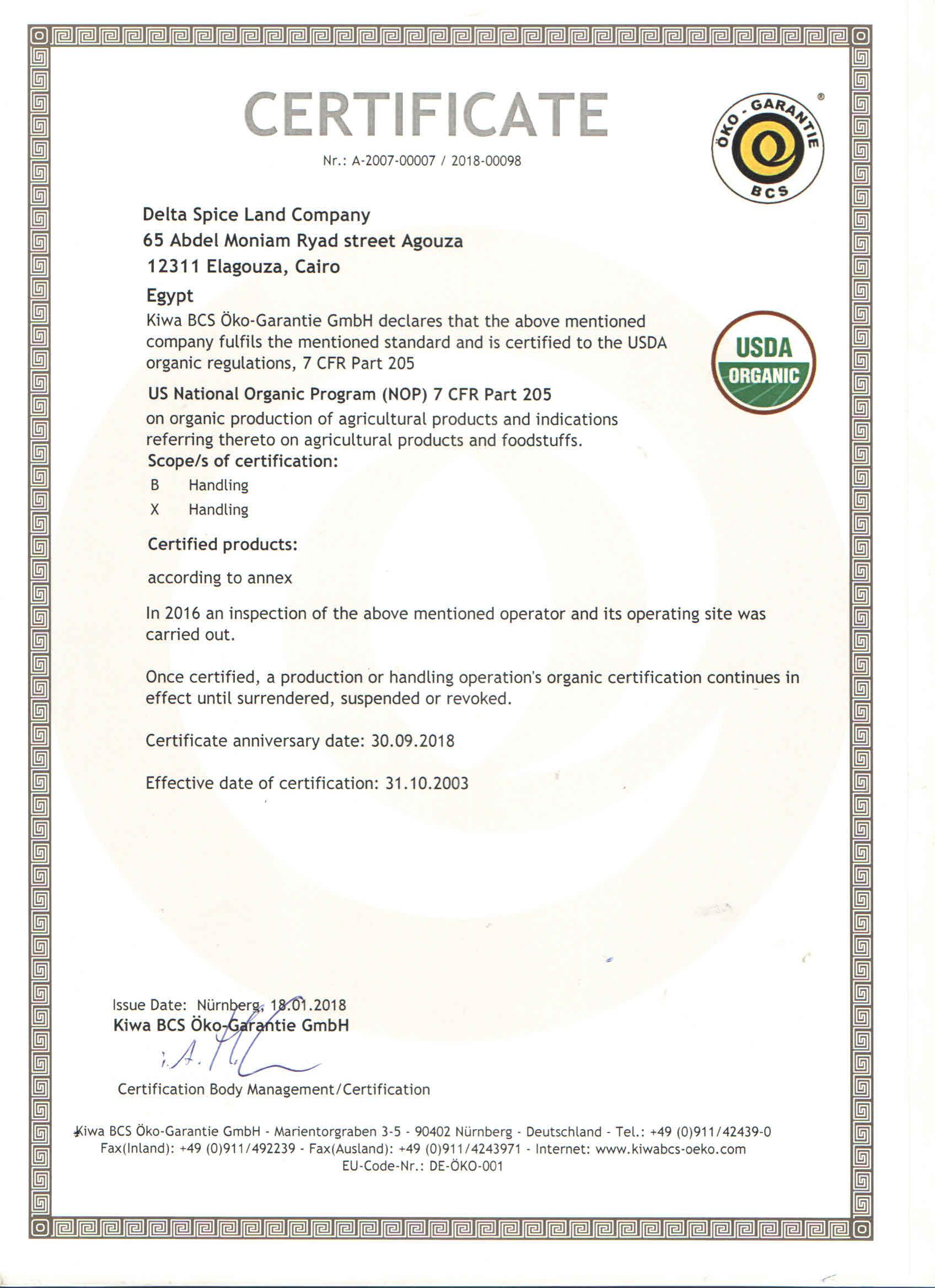 Certificates Delta Spice